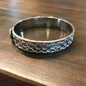 Coach silver snap closure bracelet